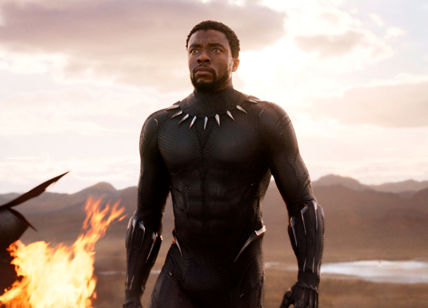 BITER FRA SEG: Chadwick Boseman har hovedrollen i «Black Panther».