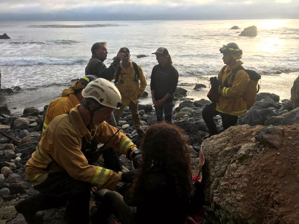 FUNNET: Angela Hernandez ble funnet ved bunnen av en klippe i Monterey County i California.