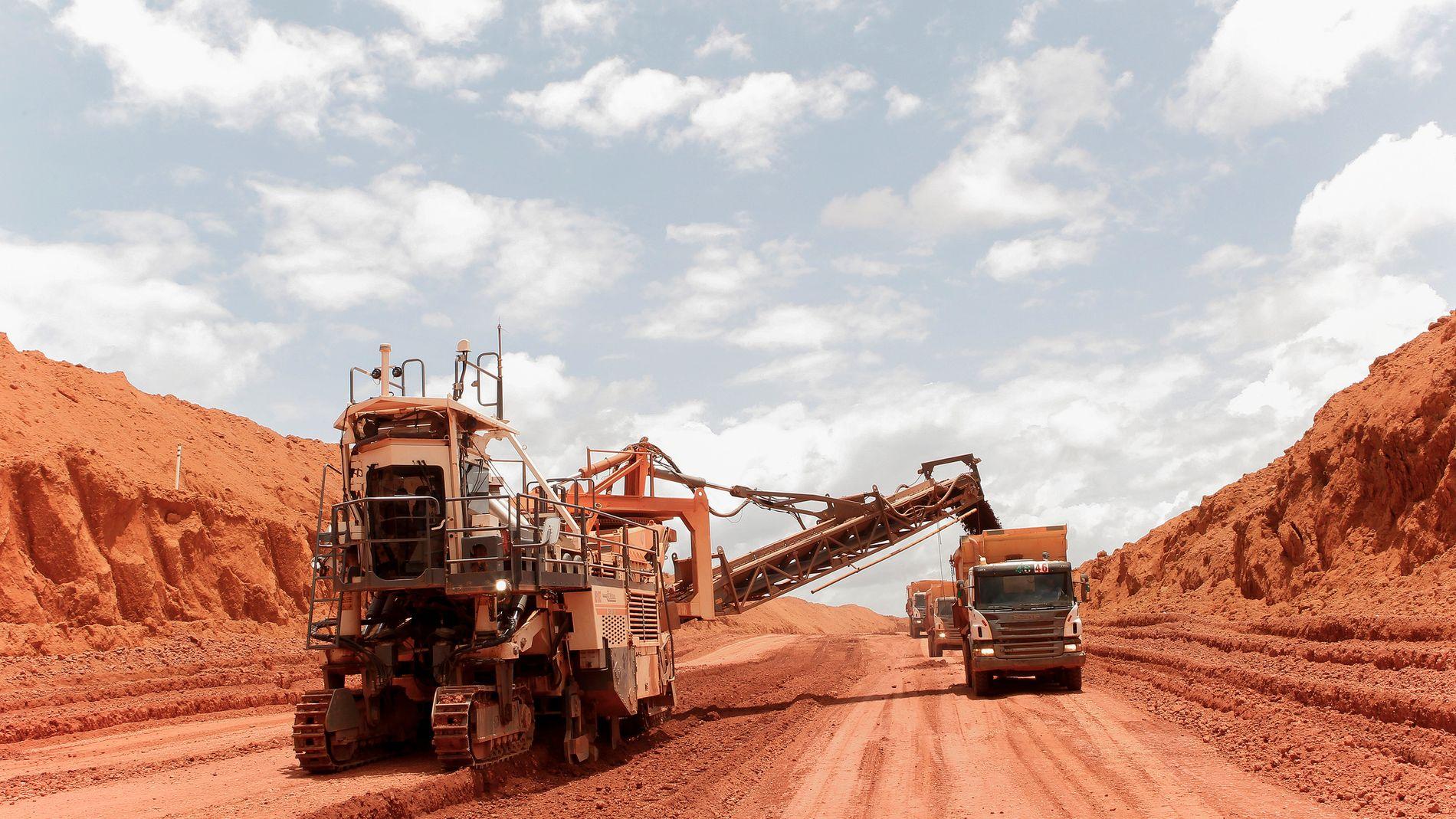 RAMMER GRUVE: Bauksittgruven Paragominas har drevet på halv kapasitet i flere måneder etter trøbbel på raffineriet Alunorte.
