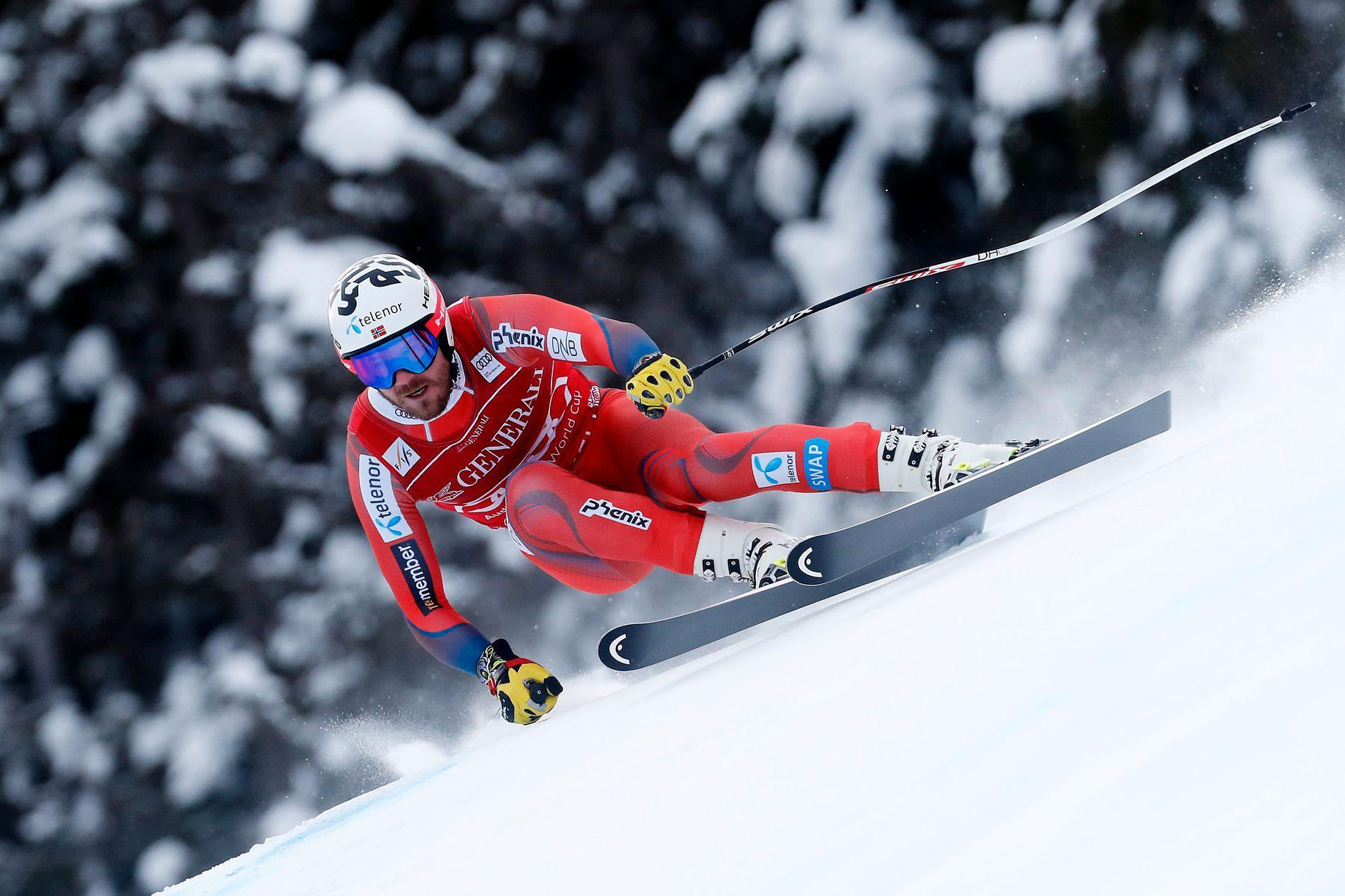 KVITFJELL: Kjetil Jansrud på vei ned til super-G-triumf i Kvitfjell i 2018.