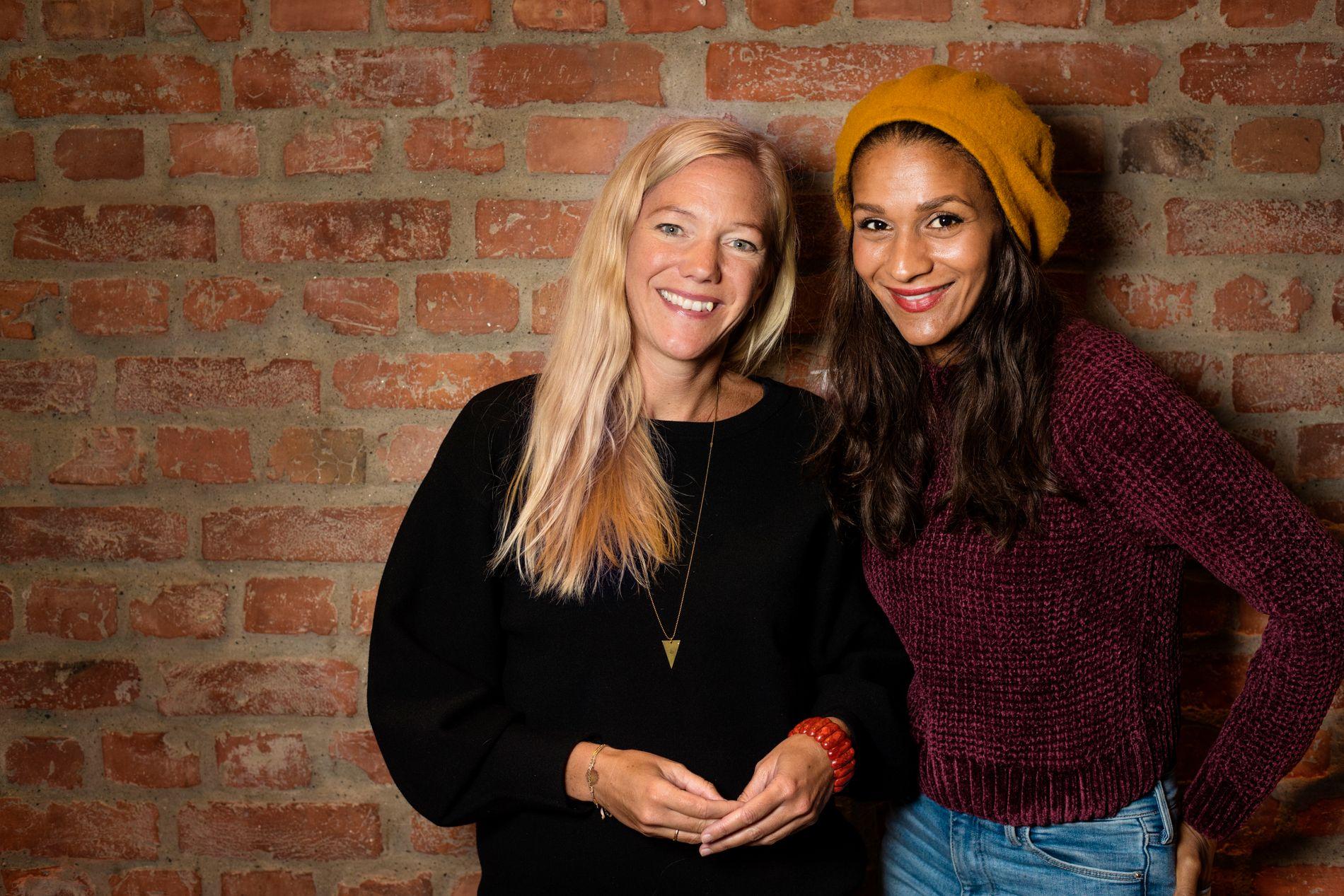 SAMARBEIDER: Maja Lunde og Lisa Aisato har laget «Snøsøsteren», som er nominert til Bokhandlerprisen 2018.