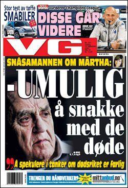 Les mer i dagens papirutgave av VG! Faksimile: VG (14.09.2010)