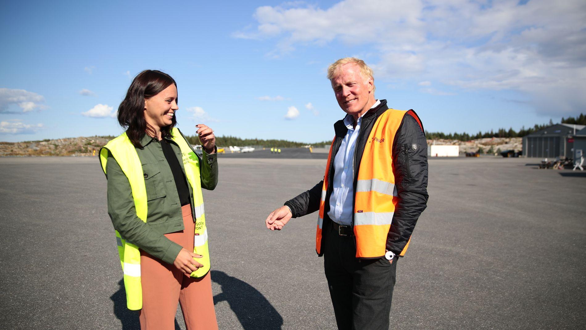 OM BORD: Statssekretær Aase Marthe J. Horrigmo var passasjer da Avinors konsernsjef Dag Falk-Petersen måtte nødlandet flyet de to satt i onsdag ettermiddag.
