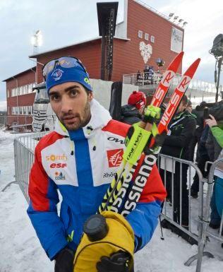 NY TRIUMF: Martin Fourcade vant sprinten i Östersund - i år som i fjor.