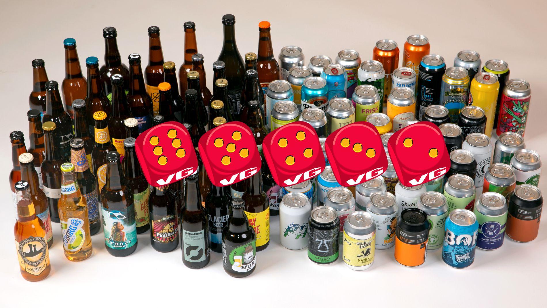 KJEMPETEST: Over 100 øl er testet og 90 produkter er kvalifisert til å være med i denne testen av norske sommerøl.