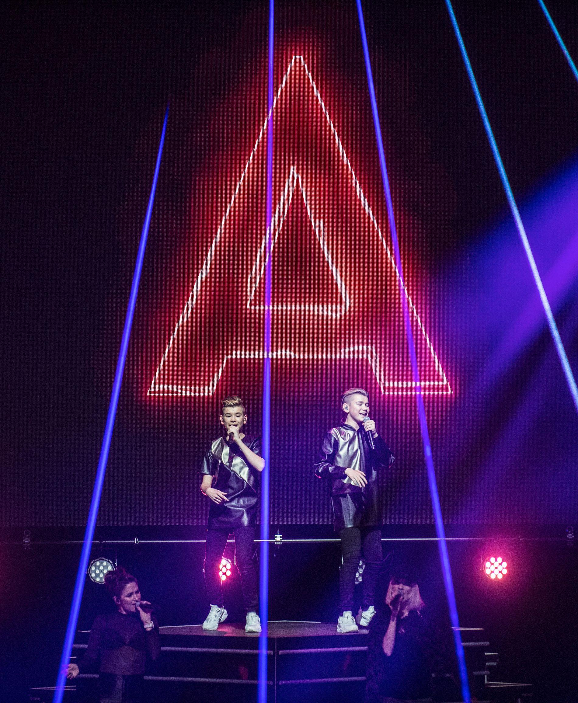 STORT FORMAT: Marcus & Martinus er nå etablerte som konsertattraksjon i arenaformat. Her i Oslo Spektrum Foto: CHRISTIAN CLAUSEN