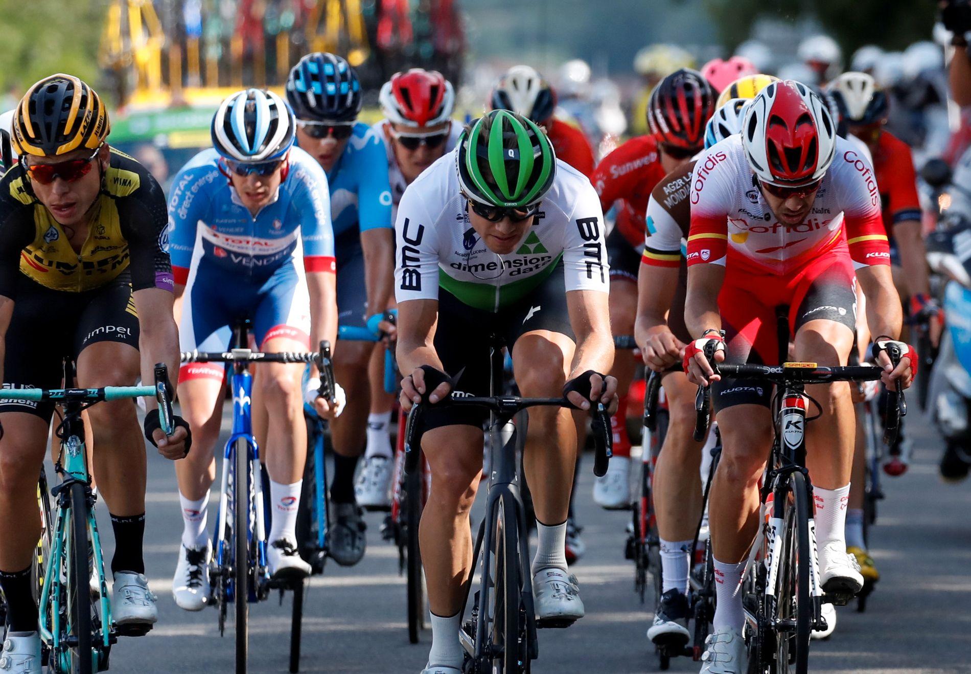 I BRUDD: Edvald Boasson Hagen har vært i brudd flere ganger i årets Tour. Tirsdag kan han prøve seg igjen.