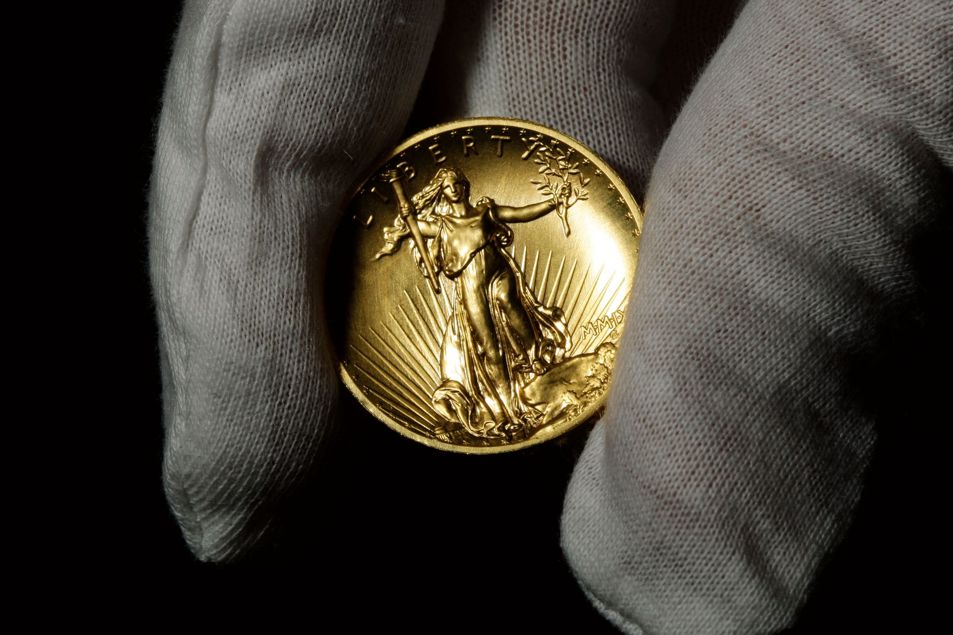 """ATTRAKTIV: Gullmynten """"Double Eagle"""" skulle ødlegges, men noen mynter ble spart og solgt til store summer flere tiår senere."""