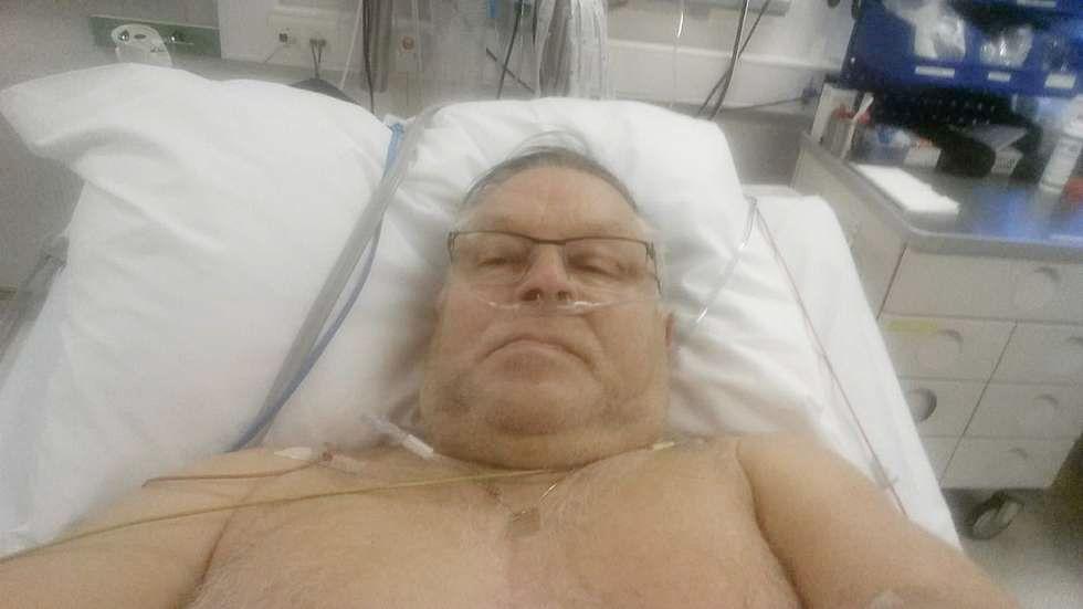 HJERTEINFARKT: I et forrykende uvær ble hjertesyke Svein Berg (67) fra Alta blottet foran en buss full av turister.