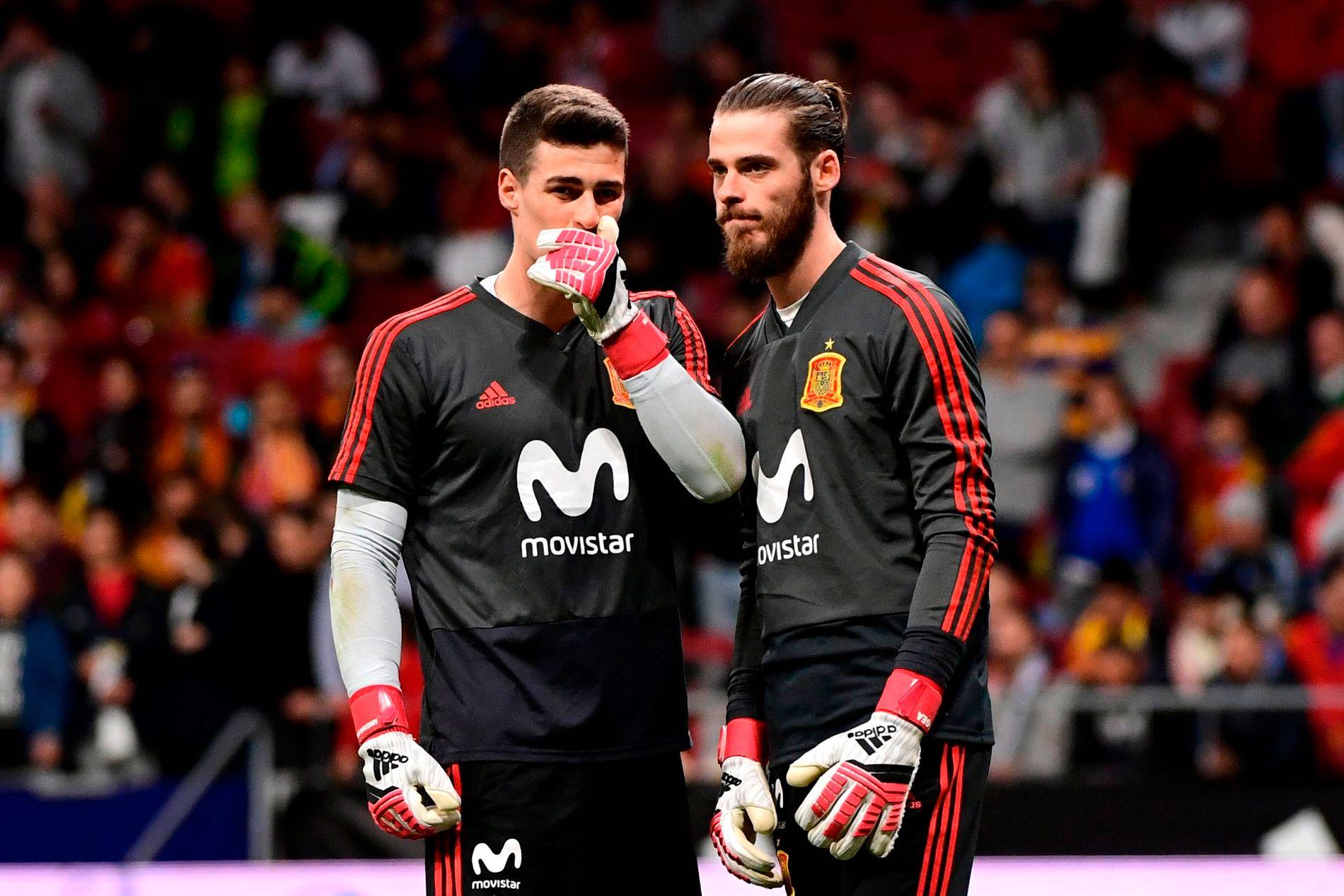 KONKURRENTER: Kepa Arrizabalaga og David de Gea kjemper om posisjonen som førstekeeper på det spanske landslaget.