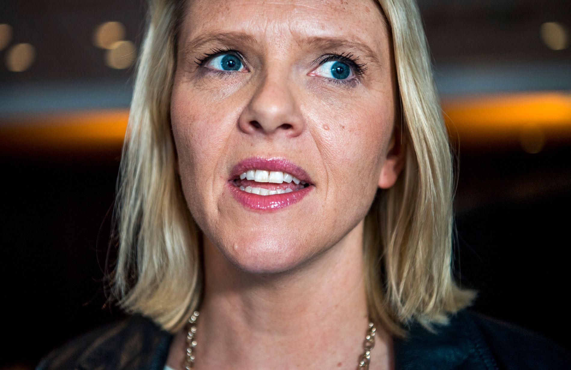 NORGES DONALD: Statsråd Sylvi Listhaug (Frp), her fra Frps landsmøte i april.