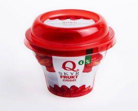 KUNDENE SKYR IKKE UNNA: I løpet av 2014s første halvår har Q-meieriene solgt 6,7 millioner beger med Skyr-yoghurt.