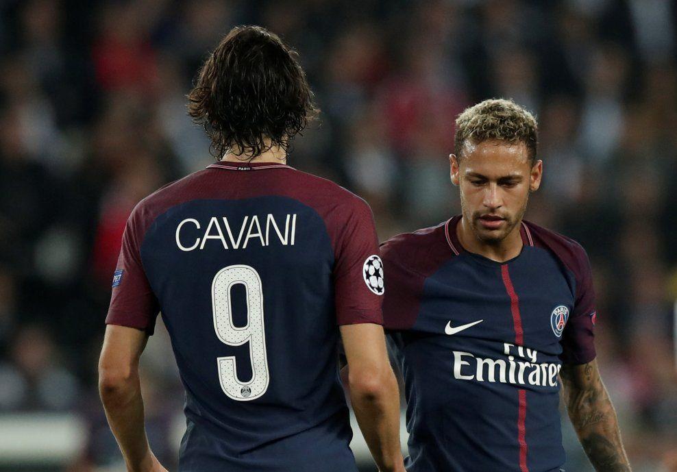 HERJET: Både Edinson Cavani og Neymar leverte varene da PSG slo Bayern München i Champions League-oppgjøret på Parc des Princes onsdag.