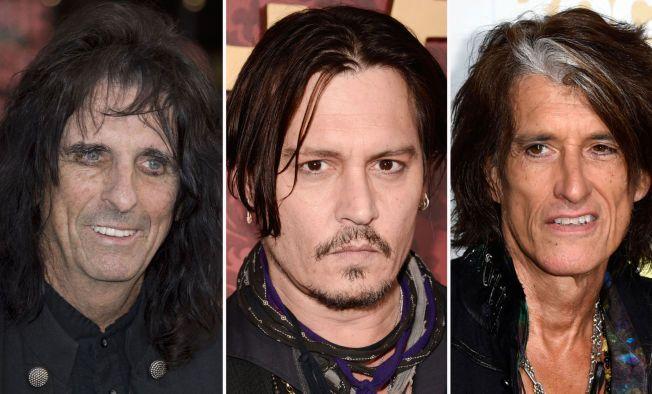 MUSIKERE: Alice Cooper (t.v.), Johnny Depp og Joe Perry har fått sin første store spillejobb - festivalen Rock in Rio.
