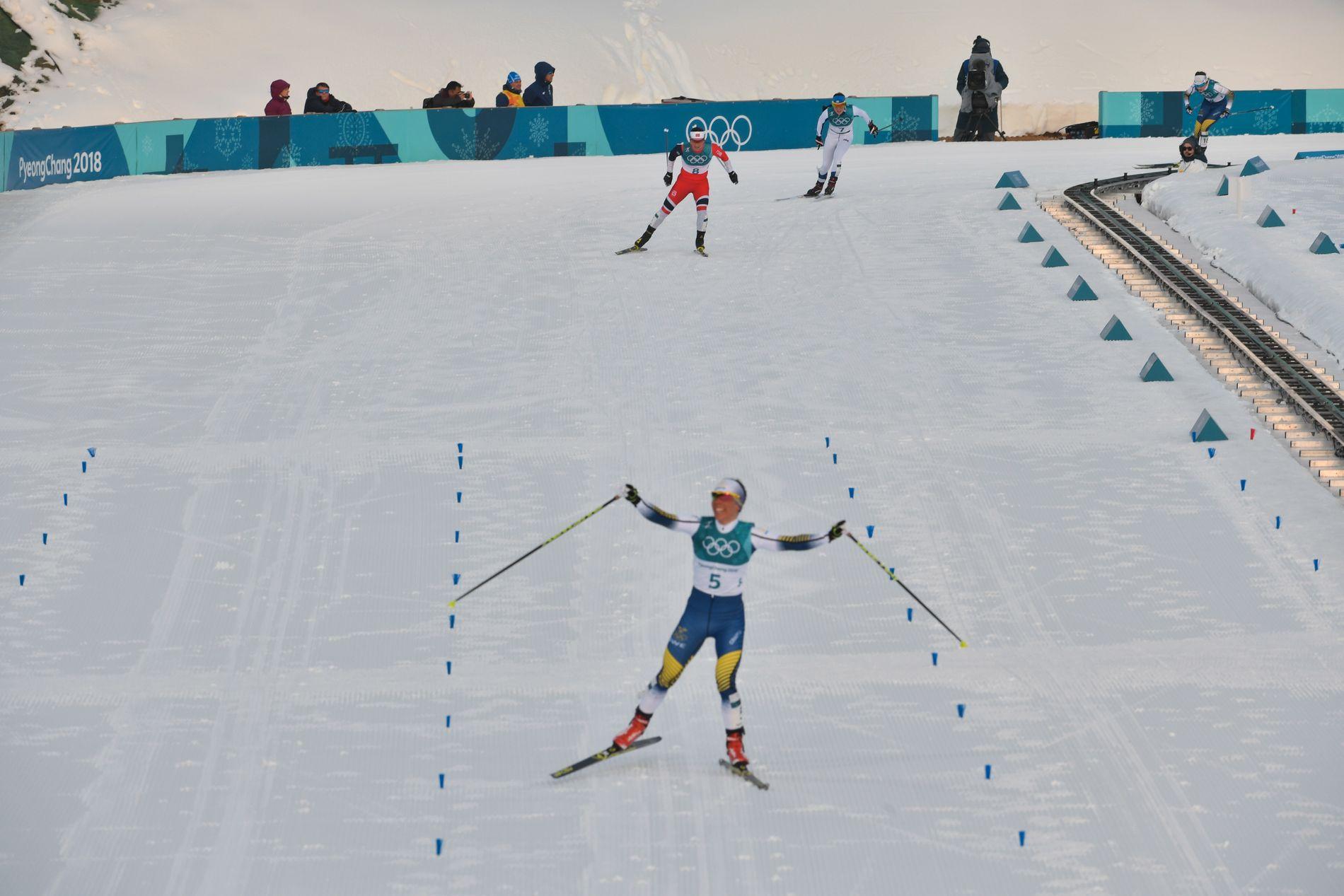 ROLLEBYTTE: I Sotsji-OL var det Bjørgen foran Kalla. Her ender det omvendt.