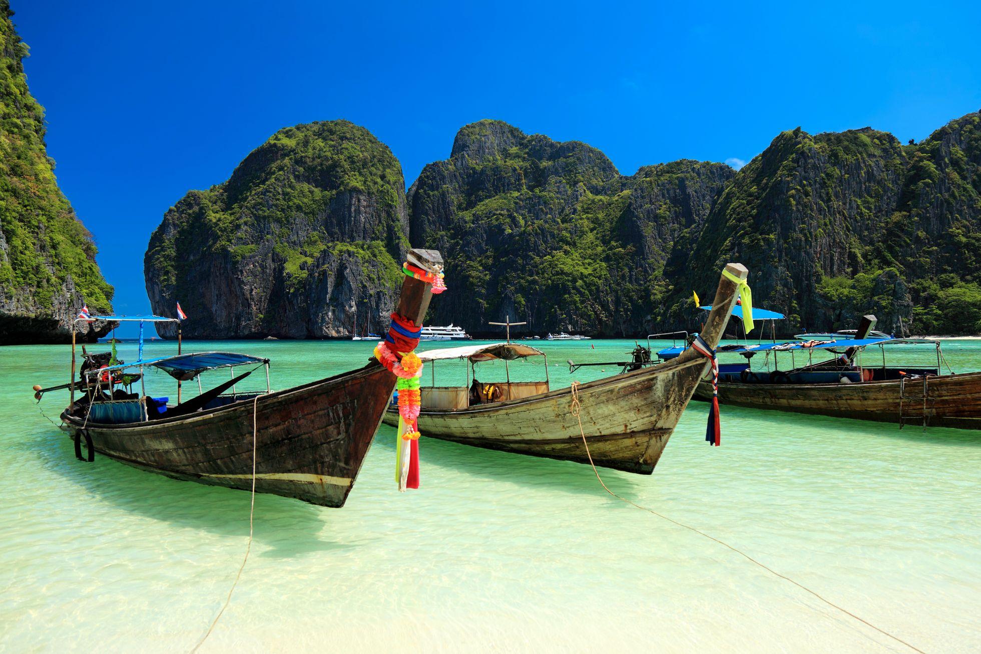 384ac161 VARME: I Thailand er temperaturene på rundt 30 varmegrader nå. Her fra Phi  Phi-øyene. Foto: vuk8691 / E+