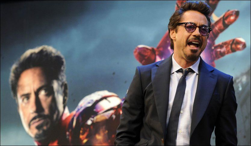 SKADET UNDER INNSPILLING: Robert Downey Jr. skadet foten under et stunt. Det satt en effektiv stopper for resten av innspillingen. Foto: Pa Photos
