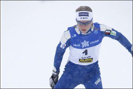VANT: Astrid Uhrenholdt Jacobsen og Heming tok gull på NM-stafetten på Gjøvik. Foto: SCANPIX