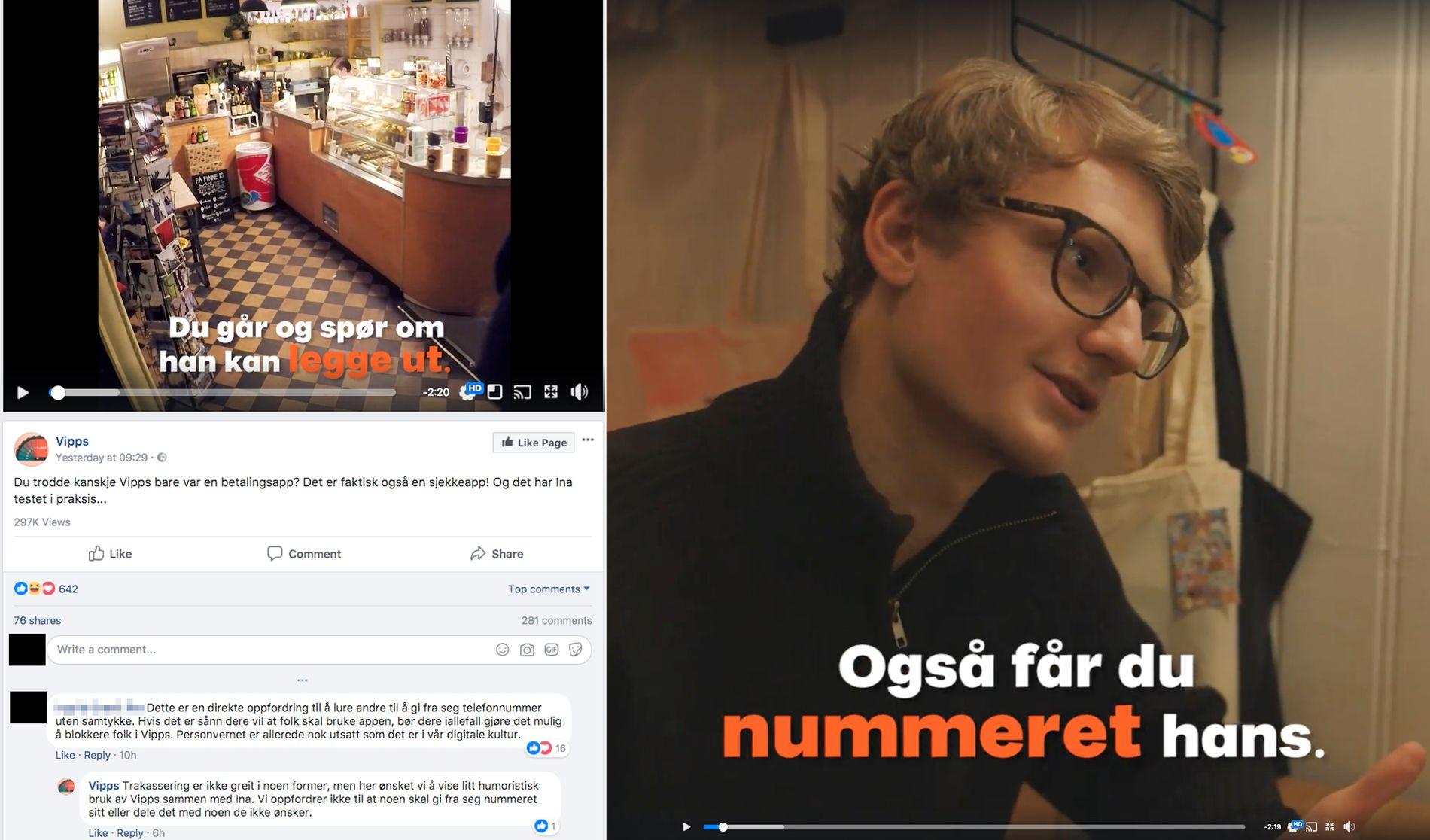 Det er Ina Svenningdal, kjent fra NRK-serien «SKAM», som spiller i Vipps nye video.