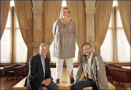 BLE OMSTRIDT: Dette VG-bildet av Dagfinn Høybråten og Lars Sponheim som enes om Erna Solberg som statsministerkandidat under valgkampen, er stridens kjerne. Foto: Helge Mikalsen