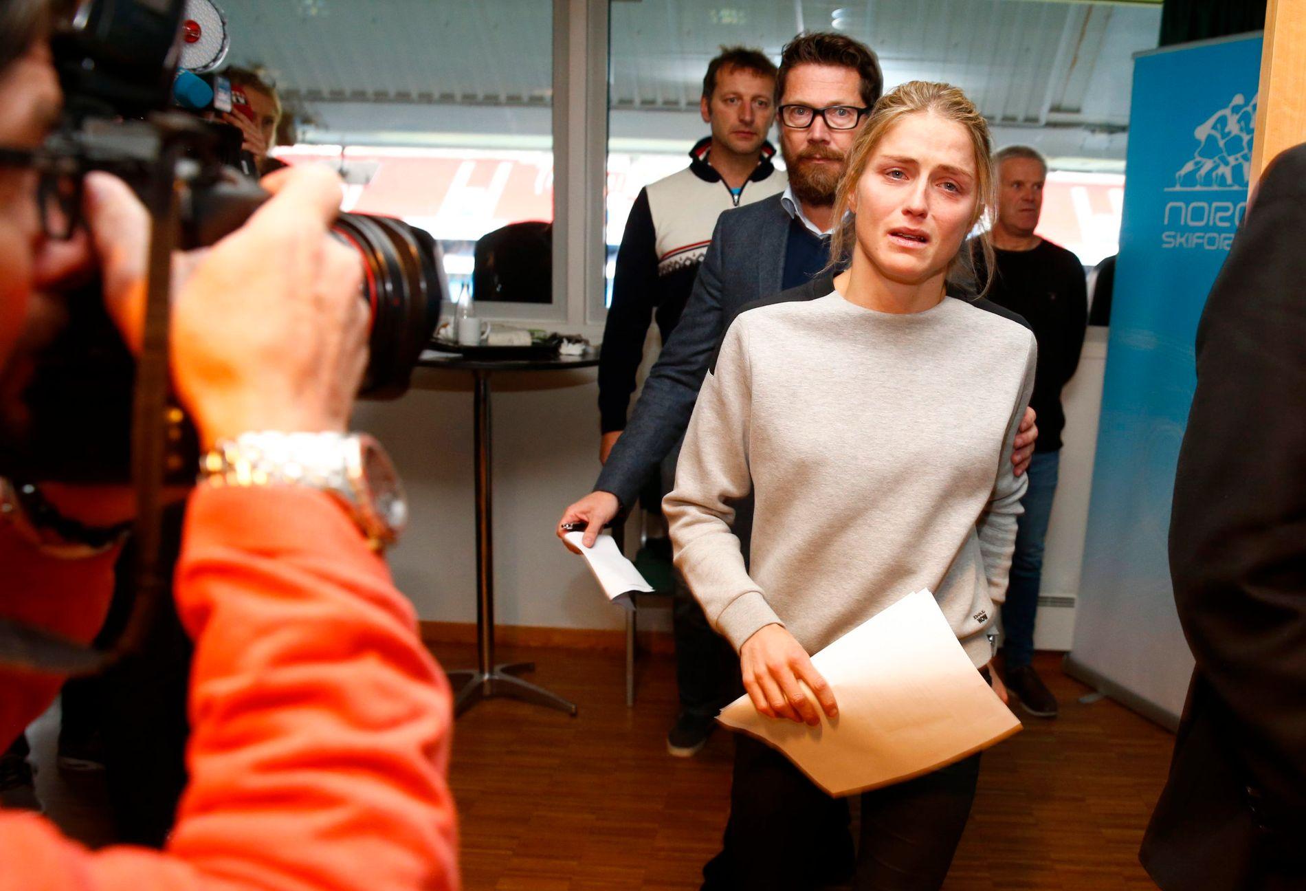 DOPINGSJOKKET: Torsdag 13. oktober ble det kjent at Therese Johaug hadde avlagt positiv dopingprøve. Nå er hun foreløpig suspendert i to måneder.