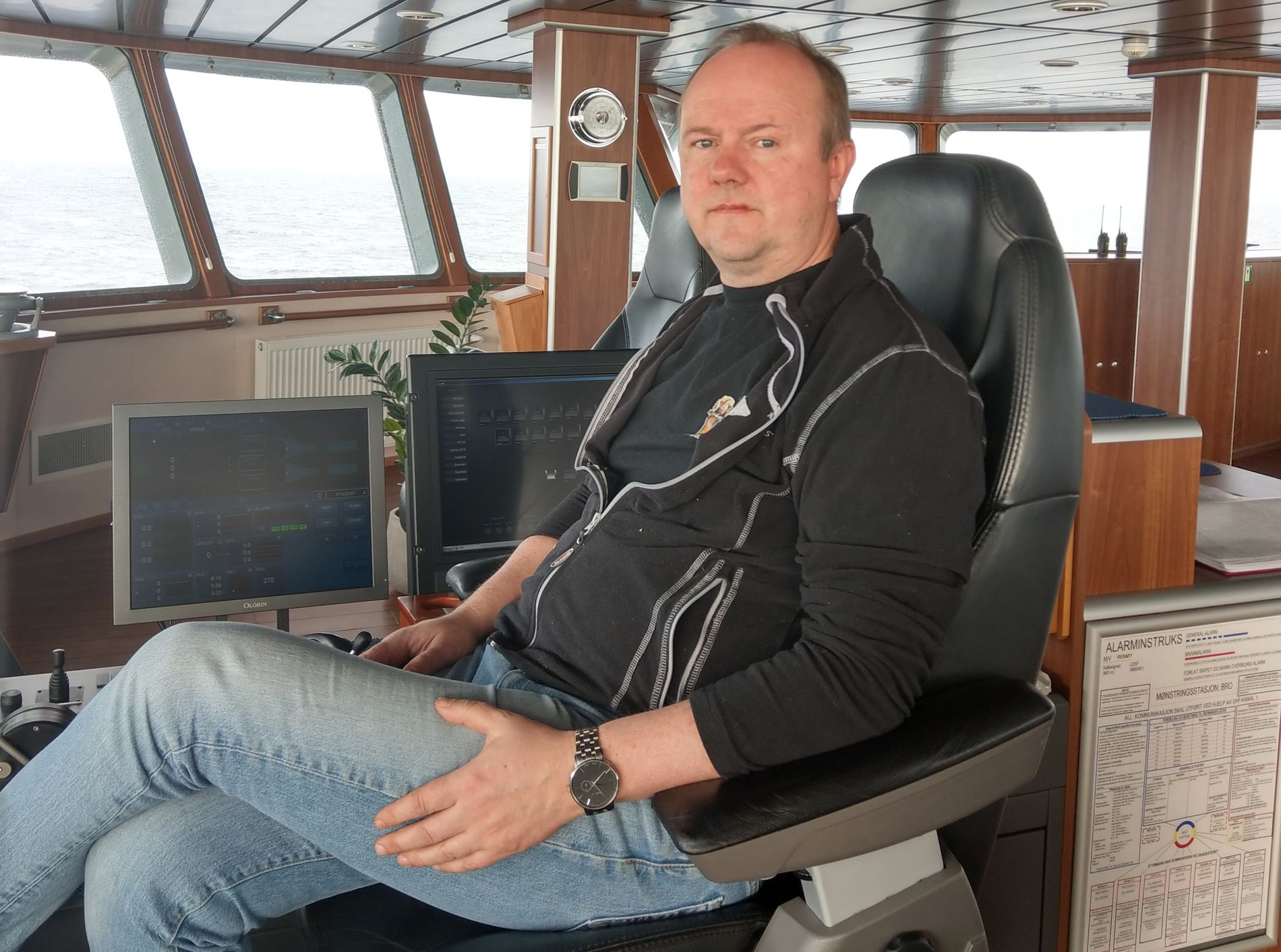 KAPTEIN: Kjetil Ervik er kaptein på reketråleren «Remøy».
