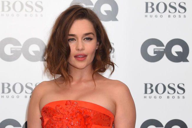 BRUNETTE: Emilia Clarke, her på GQ Men of the Year Awards i London i forrige uke, er bare blond på TV.