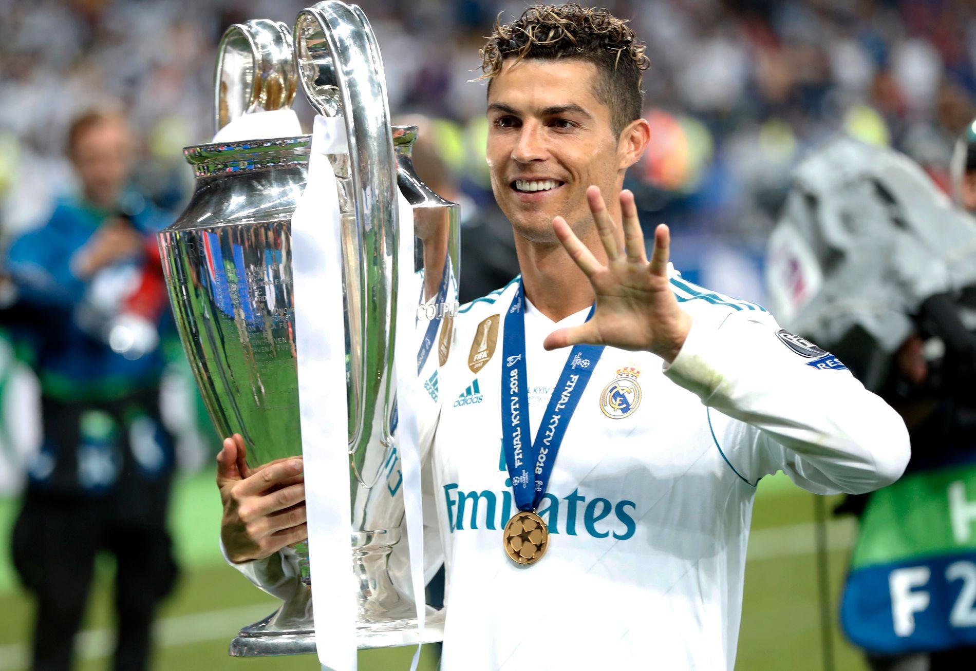 CL-GARANTIST: 26. mai kunne Cristiano Ronaldo for femte gang løfte Champions League-trofeet. Han har vunnet turneringen med sine to siste klubbe, og nå kan Juventus stå for tur.
