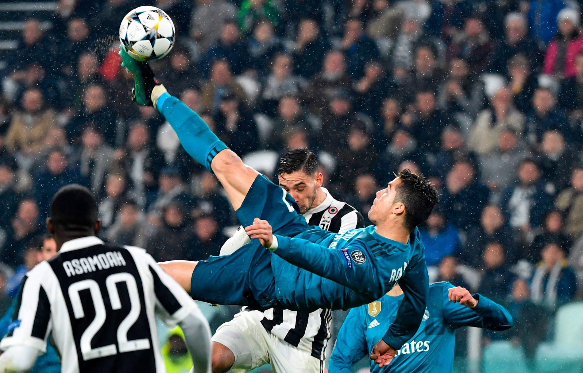 JUVE-DØDER: Cristiano Ronaldo var med på å sende Juventus ut av forrige sesong Champions League med dette brassesparket.