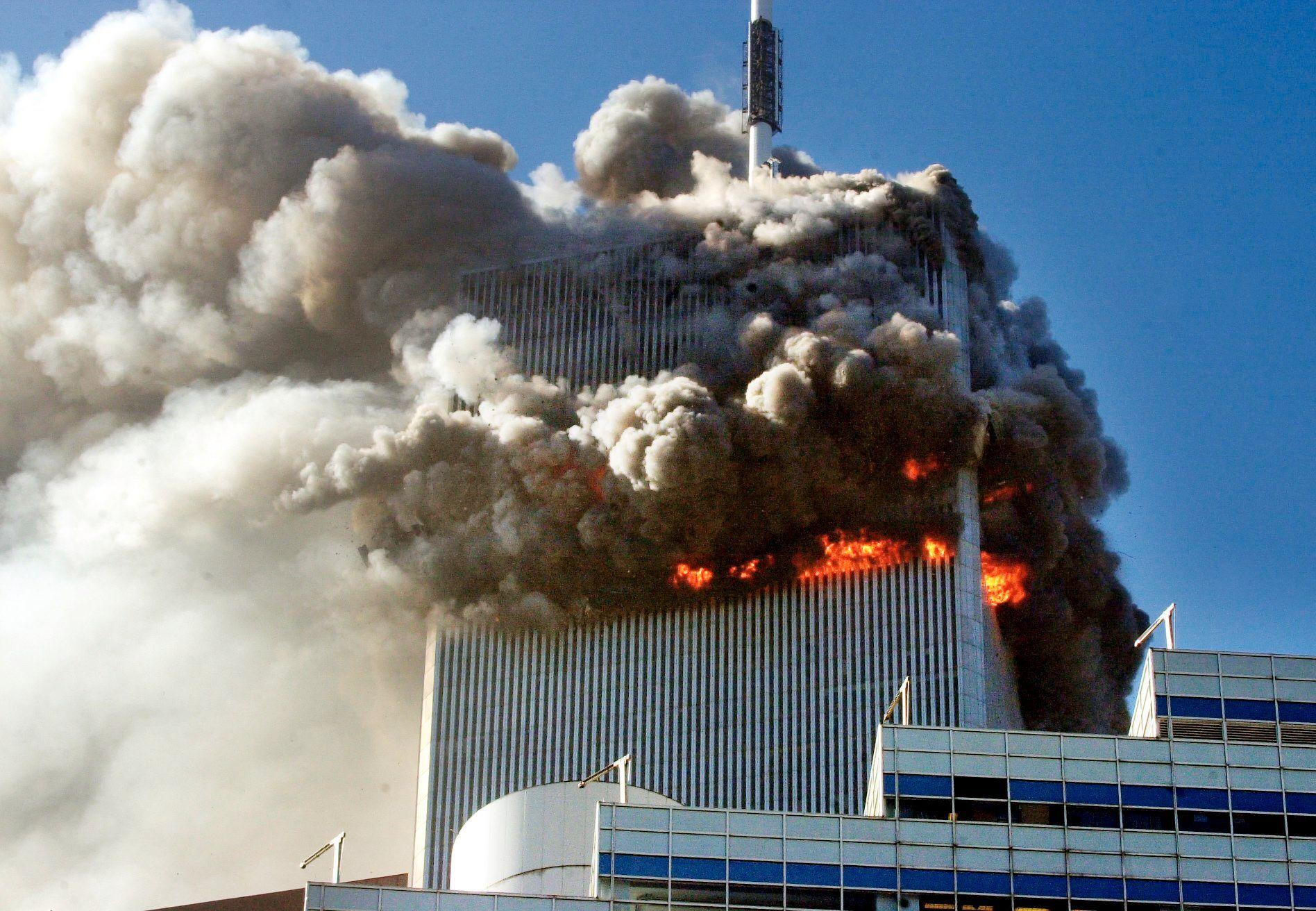 DA TERROREN RAMMET: Terrorangrepet mot World Trade Center i New York City og Pentagon i Washington D.C 11. september 2001 drepte rundt 3.000 personer.