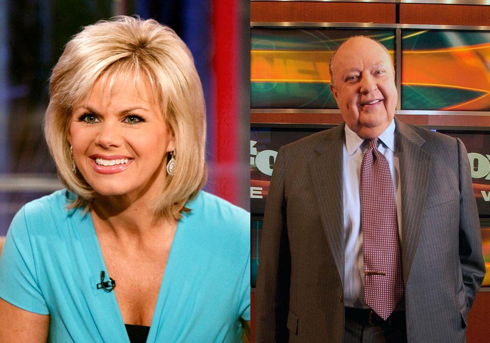 FORLIK: Tidligere Fox-nyhetsanker Gretchen Carlson t.v i 2010, og hennes tidligere sjef Roger Ailes t.h. i 2006.