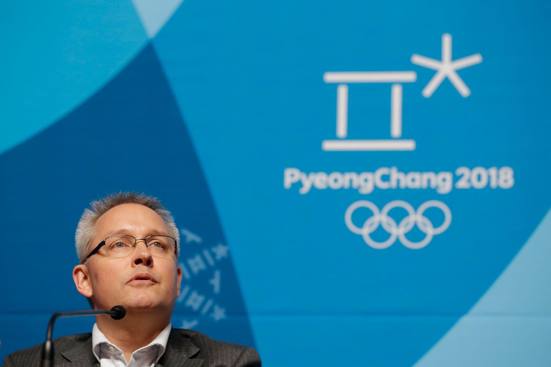 Generalsekretær Matthieu Reeb deltok nylig på en pressekonferanse om at russiske utøvere ber domstolen overprøve IOCs beslutning om å ikke invitere dem til OL.