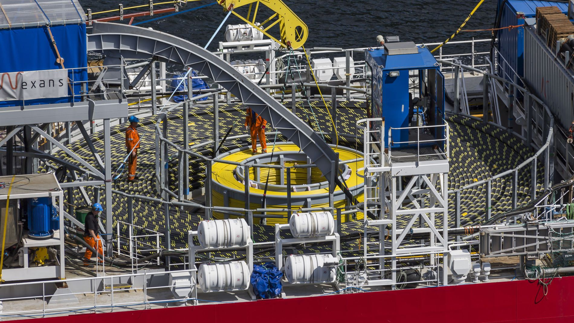GA ØKT KRAFTPRIS: Bilde fra arbeid med Skagerrak 4-kabelen, som er den fjerde kraftkabelen som er blitt lagt mellom Norge og Danmark.