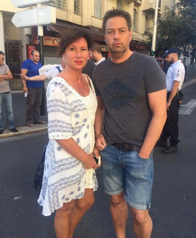 HAVNET MIDT I KAOSET: Ekteparet fra Sykkylven klarte å løpe i sikkerhet da lastebilen rammet folkemengden i Nice.