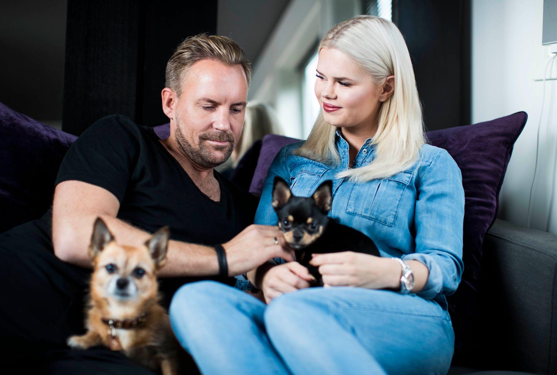PÅ TV: Julianne Nygård (27) kjent som bloggeren «Pilotfrue» sammen med mannen Ulrik Nygård (37). Foto: FREDRIK SOLSTAD, VG