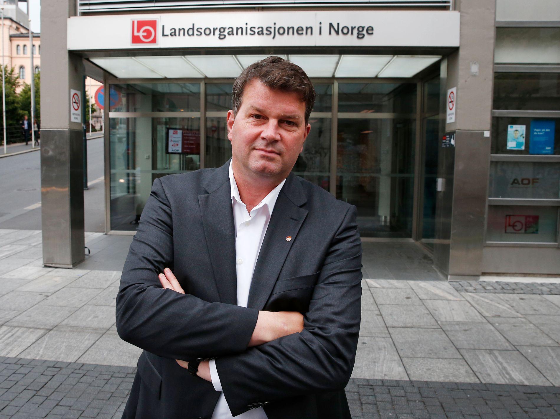 PÅ VEI OPP: LO-nestleder Hans-Christian Gabrielsen ligger an til å bli ny LO-leder etter Gerd Kristiansen på LO-kongressen i mai.