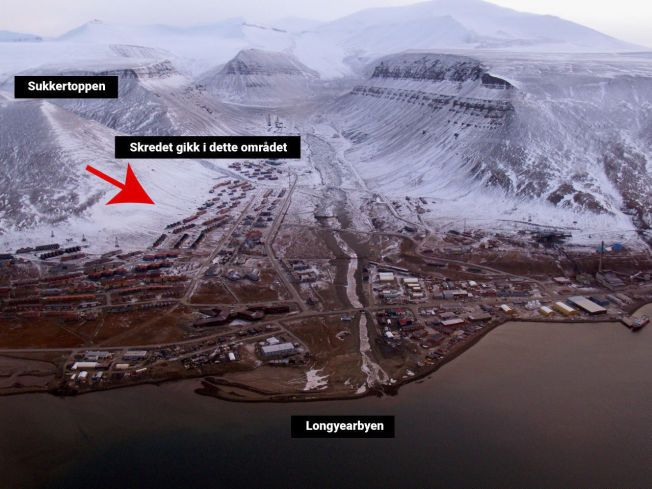 HER GIKK SKREDET: Området skredet gikk i er ikke dekket av det snøskredvarslet varsom.no.