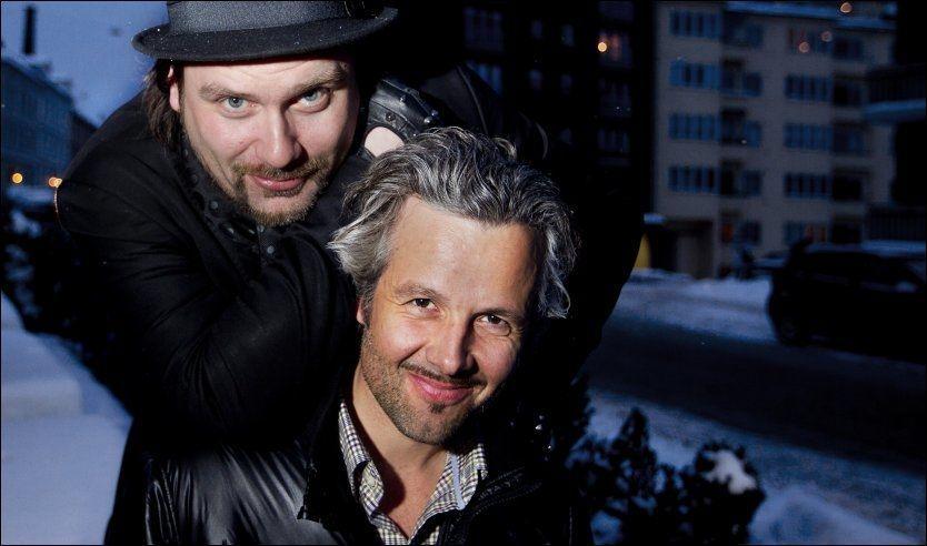 GUTTA PÅ TUR: Per Heimly og Ari Behn får gode kritikker for sin nye TV-serie. Foto: Roger Neumann/VG