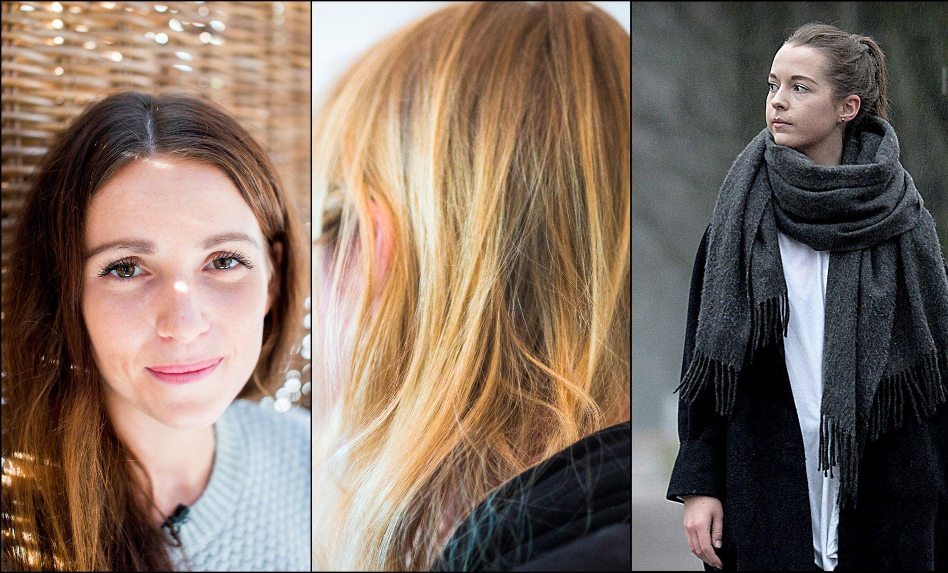 ÅPENHET: De tre kvinnene, Natalie Simensen (t.v.) og Eline Skår (t.h.), har delt sin erfaring fra psykisk helsevern. og hvor inngripende og alvorlig det er å bli utsatt for mekaniske tvangsmideler.