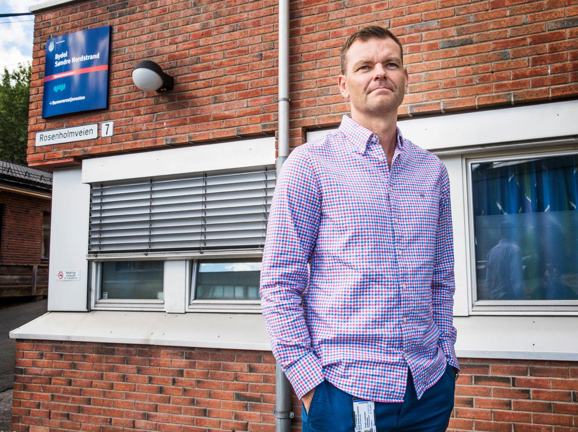 LEGGER SEG FLAT. Roger Johansen, barnevernsleder i Søndre Nordstrand, sier barnevernet kan bli flinkere til å forebygge ungdomskriminalitet og samarbeide bedre med skolene.
