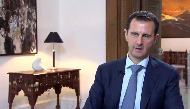 I FORHANDLINGER: Bashar al-Assad, her i forbindelse med et tv-intervju.