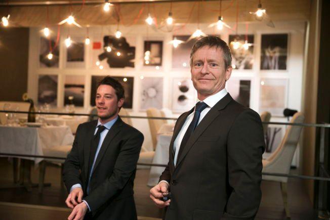 MEDSPILLERE: Henrik Mestad sammen med Eldar Skar (t.v.) som spiller en av hovedrollene i «Okkupert».