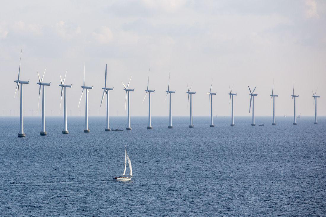 MER STØTTE: Et overveldende flertall på MDG-landsmøtet vil satse mer på vindmøller til havs, som disse i Danmark.