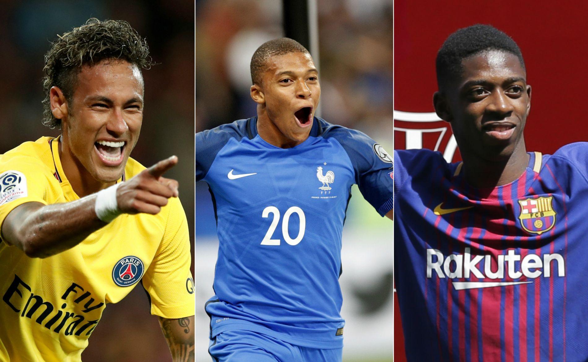 DYREST: Neymar fra Barcelona til PSG, Kylian Mbappé fra Monaco til PSG og Ousmane Dembélé fra Dortmund til Barcelona ble tidenes tre dyreste overganger denne sommeren.