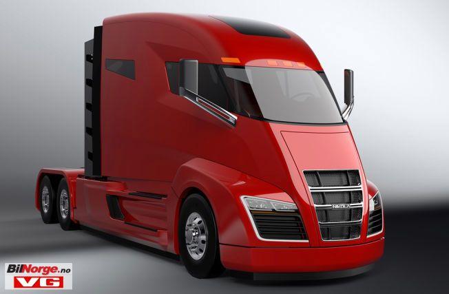NIKOLA: Den elektriske lastebilen med 2000 hester bærer fornavnet til Tesla og kan trekke førti tonn.