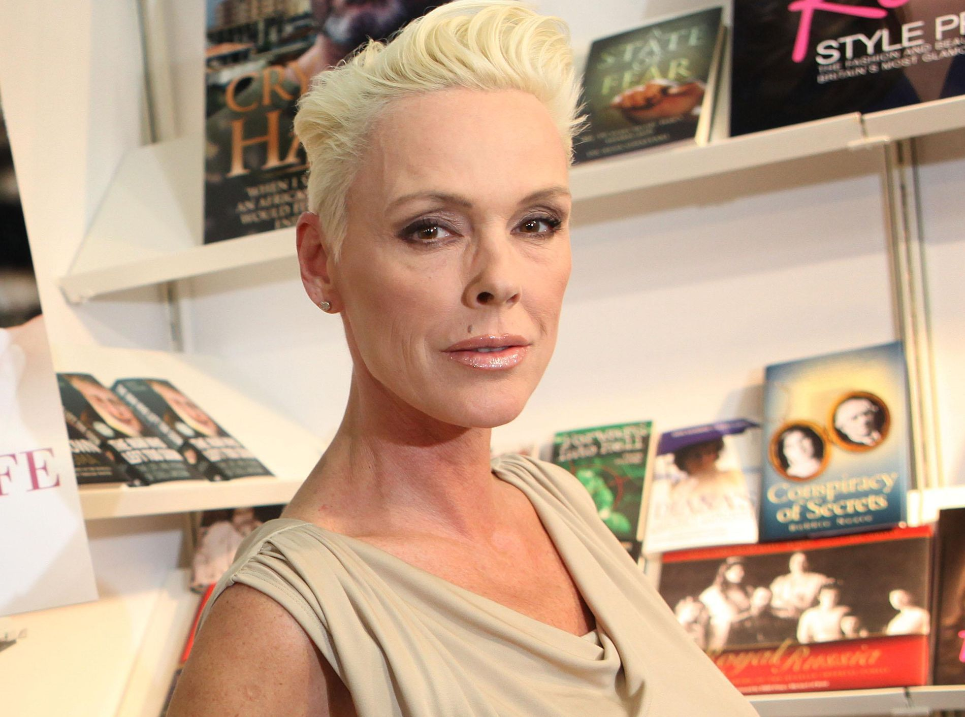 BABYLYKKE:  Den danske skuespilleren, modellen og realitystjernen Brigitte Nielsen.