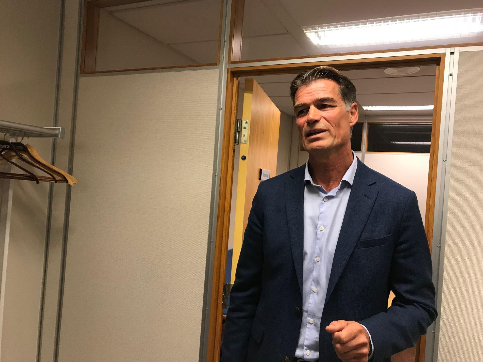 DAGLIG LEDER: Øystein Neerland, daglig leder i Molde Fotbalklubb, møtte i dag som vitne i Romsdal tingrett, hvor en spiller i klubben står tiltalt for sovevoldtekt.