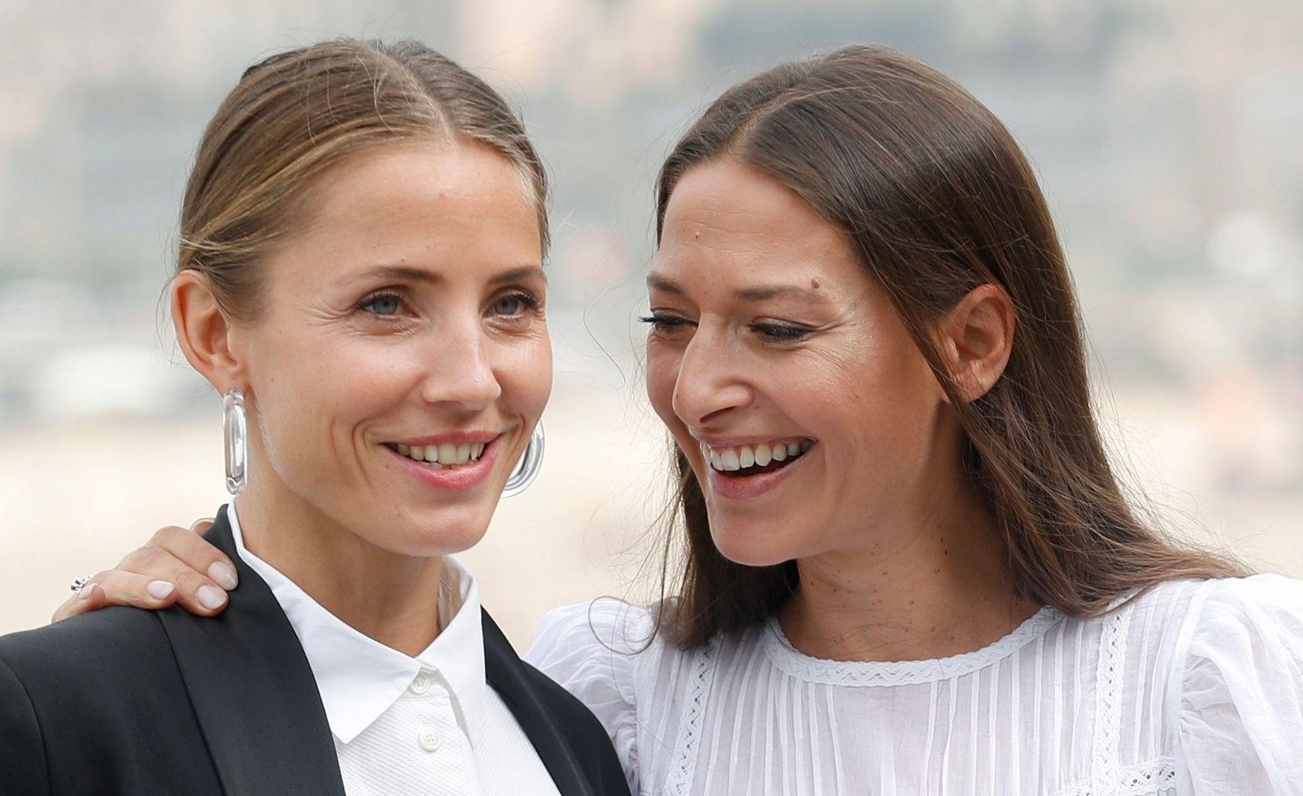 BESTEVENNINNER: Tuva Novotny og Pia Tjelta, her fra filmfestivalen i San Sebastian.