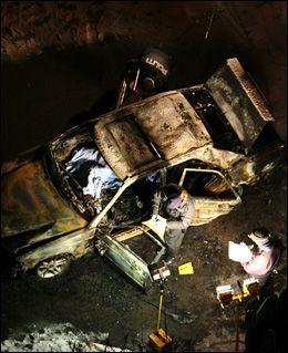VENNEN DREPT: Mohammed «Jeddi» Javed ble skutt i bakhodet på Haugerud i 2009. Bilen ble påtent etter drapet. Foto: BJØRNAR TOMMELSTAD / VG