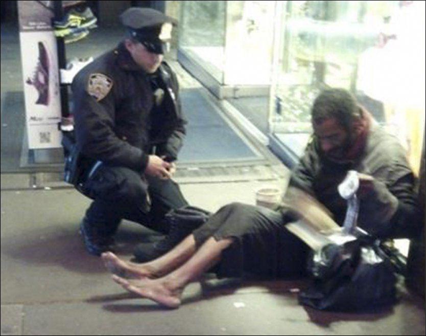 Politihelten kjøpte sko til uteligger takker bestefar – VG